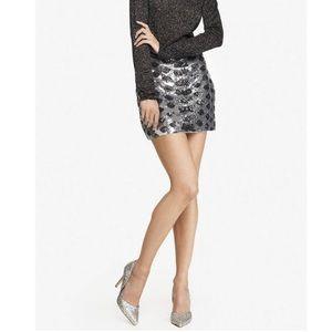 NEW Express Leopard Sequin Mini Skirt sz Large